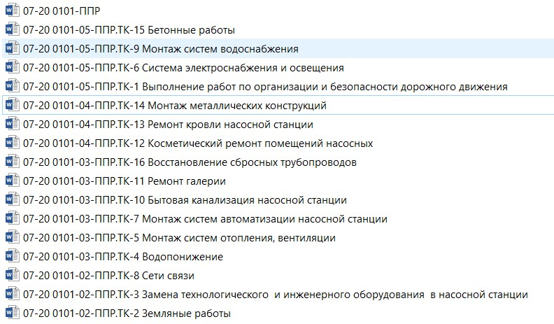 Состав проекта производства работ по объекту